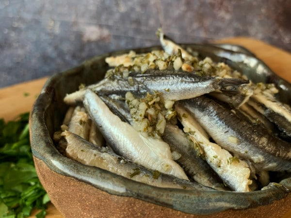 Anchovies with Garlic | Order Online | Next Day Delivery
