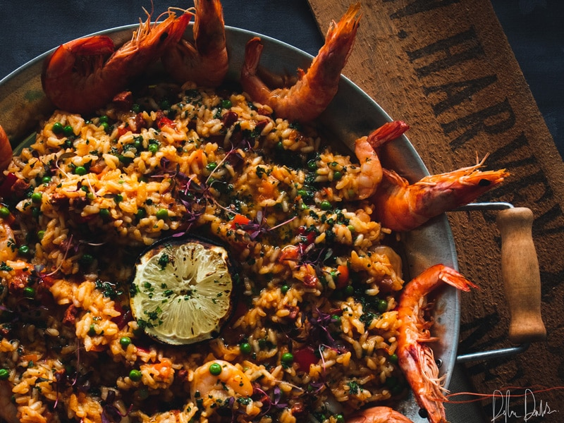 Prawn Paella Seafood Recipe | Cornish Seafood Direct to your Door