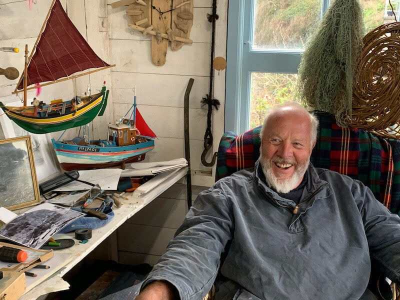Nigel Legge at Cadgwith Cove