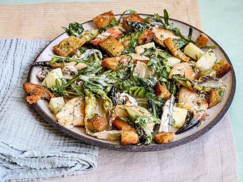 Cornish Crab Ceasar Salad